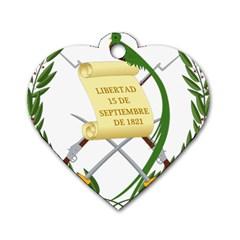 National Emblem Of Guatemala  Dog Tag Heart (two Sides) by abbeyz71
