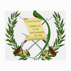 National Emblem Of Guatemala  Small Glasses Cloth (2 Side) by abbeyz71