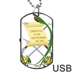 National Emblem Of Guatemala  Dog Tag Usb Flash (one Side) by abbeyz71