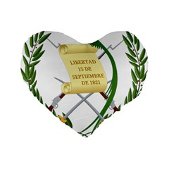 National Emblem Of Guatemala  Standard 16  Premium Flano Heart Shape Cushions by abbeyz71