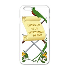 National Emblem Of Guatemala  Apple Iphone 6/6s White Enamel Case by abbeyz71