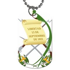 National Emblem Of Guatemala Dog Tag (one Side) by abbeyz71