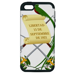 National Emblem Of Guatemala Apple Iphone 5 Hardshell Case (pc+silicone) by abbeyz71