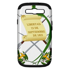 National Emblem Of Guatemala Samsung Galaxy S Iii Hardshell Case (pc+silicone) by abbeyz71