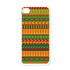 Mexican Pattern Apple Iphone 4 Case (white) by Onesevenart