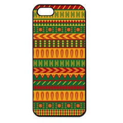 Mexican Pattern Apple Iphone 5 Seamless Case (black) by Onesevenart