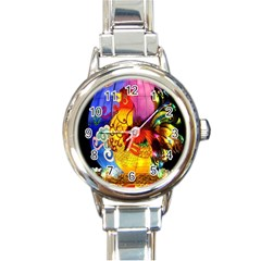 Chinese Zodiac Signs Round Italian Charm Watch by Onesevenart