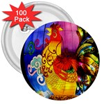 Chinese Zodiac Signs 3  Buttons (100 pack)