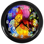 Chinese Zodiac Signs Wall Clocks (Black)