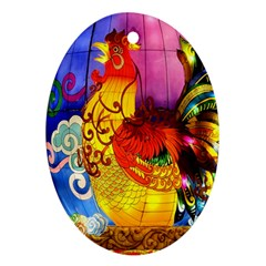 Chinese Zodiac Signs Oval Ornament (two Sides) by Onesevenart
