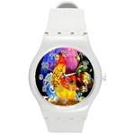 Chinese Zodiac Signs Round Plastic Sport Watch (M)