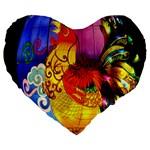 Chinese Zodiac Signs Large 19  Premium Heart Shape Cushions