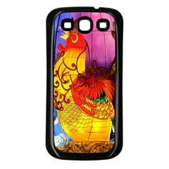 Chinese Zodiac Signs Samsung Galaxy S3 Back Case (black) by Onesevenart