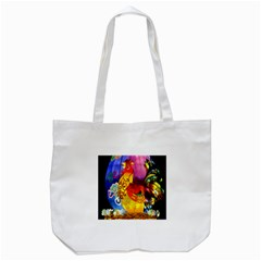 Chinese Zodiac Signs Tote Bag (White) by Onesevenart