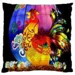 Chinese Zodiac Signs Large Flano Cushion Case (Two Sides)
