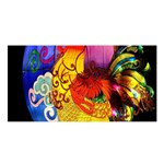 Chinese Zodiac Signs Satin Shawl