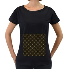 Abstract Stripes Pattern Women s Loose Fit T Shirt (black) by Onesevenart
