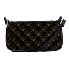 Abstract Stripes Pattern Shoulder Clutch Bags by Onesevenart