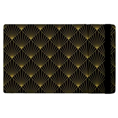 Abstract Stripes Pattern Apple Ipad 2 Flip Case by Onesevenart