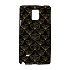 Abstract Stripes Pattern Samsung Galaxy Note 4 Hardshell Case by Onesevenart