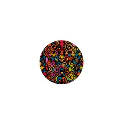 Art Traditional Pattern 1  Mini Buttons by Onesevenart