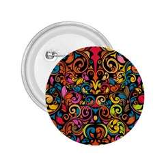 Art Traditional Pattern 2.25  Buttons by Onesevenart