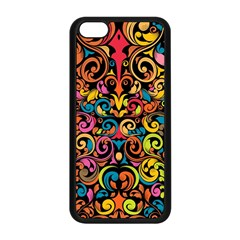 Art Traditional Pattern Apple Iphone 5c Seamless Case (black) by Onesevenart