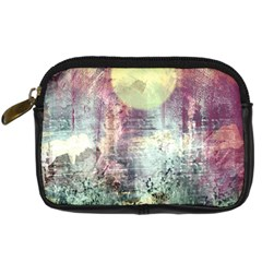 Frosty Pale Moon Digital Camera Cases by theunrulyartist