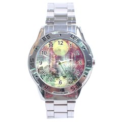 Frosty Pale Moon Stainless Steel Analogue Watch by theunrulyartist