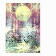 Frosty Pale Moon Small Garden Flag (two Sides) by digitaldivadesigns
