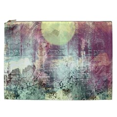 Frosty Pale Moon Cosmetic Bag (xxl)  by theunrulyartist
