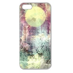 Frosty Pale Moon Apple Seamless Iphone 5 Case (clear) by theunrulyartist