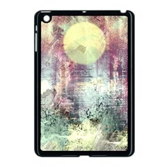 Frosty Pale Moon Apple iPad Mini Case (Black) by theunrulyartist