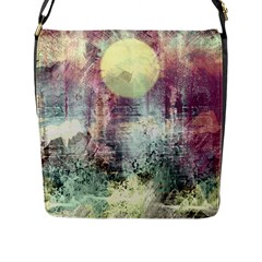 Frosty Pale Moon Flap Messenger Bag (L)