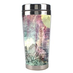 Frosty Pale Moon Stainless Steel Travel Tumblers by theunrulyartist