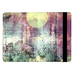 Frosty Pale Moon Samsung Galaxy Tab Pro 12 2  Flip Case by digitaldivadesigns