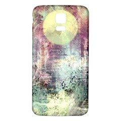 Frosty Pale Moon Samsung Galaxy S5 Back Case (white)