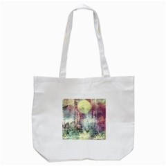 Frosty Pale Moon Tote Bag (white) by theunrulyartist