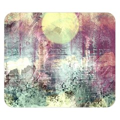 Frosty Pale Moon Double Sided Flano Blanket (small)  by digitaldivadesigns