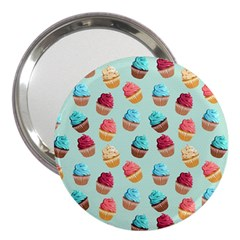 Cup Cakes Party 3  Handbag Mirrors by tarastyle