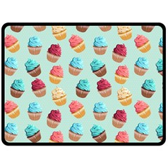 Cup Cakes Party Double Sided Fleece Blanket (large)  by tarastyle