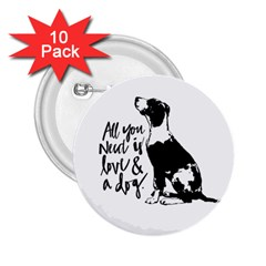 Dog Person 2 25  Buttons (10 Pack)  by Valentinaart