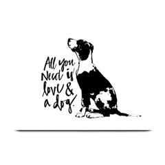 Dog Person Plate Mats by Valentinaart