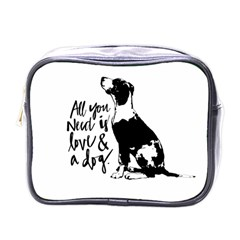 Dog Person Mini Toiletries Bags by Valentinaart