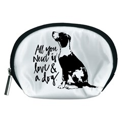 Dog Person Accessory Pouches (medium)  by Valentinaart