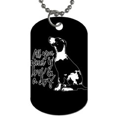 Dog Person Dog Tag (two Sides) by Valentinaart