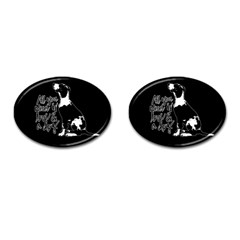 Dog Person Cufflinks (oval) by Valentinaart