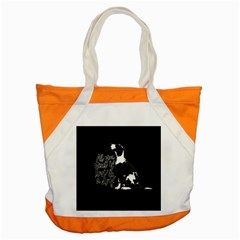 Dog Person Accent Tote Bag by Valentinaart