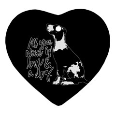 Dog Person Heart Ornament (two Sides) by Valentinaart
