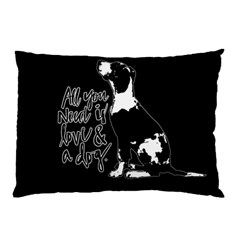 Dog Person Pillow Case by Valentinaart